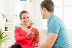 Happy Romantic couple Royalty Free Stock Photos