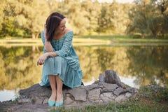 Happy romantic woman Stock Photography