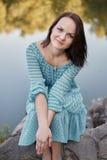 Happy romantic woman Royalty Free Stock Image