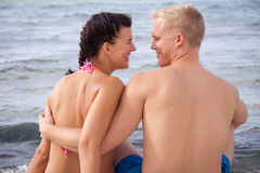 Happy romantic young couple Royalty Free Stock Photo