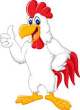 Happy rooster cartoon giving thumb up Stock Photography