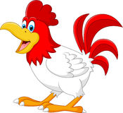 Happy rooster cartoon Royalty Free Stock Images
