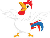 Happy rooster cartoon Stock Images