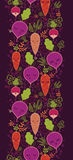 Happy root vegetables vertical seamless pattern Royalty Free Stock Photo