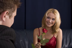 Happy rose Royalty Free Stock Image