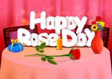 Happy Rose Day wallpaper background Royalty Free Stock Image