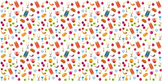 Rosh Hashanah Shana Tova Jewish Holiday icons pattern Royalty Free Stock Images