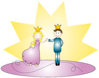 Happy Royal Couple Royalty Free Stock Photos