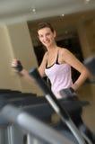 A Happy Run on the Treadmill Royalty Free Stock Photos