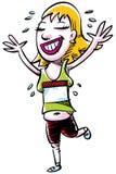 Happy Runner Royalty Free Stock Photos