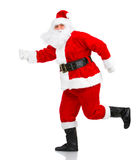 Happy running Christmas Santas Stock Image