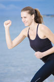Happy Running Woman Stock Photography