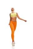 Happy running woman full length Stock Photography
