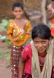 Happy rural indian kids Royalty Free Stock Photos