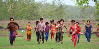 Happy rural indian kids Royalty Free Stock Photo