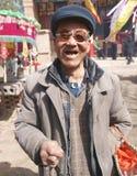 Happy rural old man Stock Photos