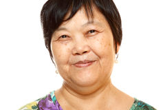 Happy 60s Senior Asian Woman Stock Photography