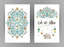 Happy sacrifice celebration Eid al-Adha card. Stock Photo