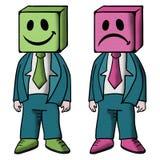 Happy and sad. Design of happy and sad Stock Photos