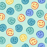 Happy and sad face pattern Stock Photo