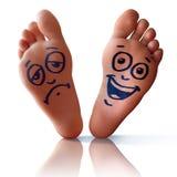 Happy Sad Feet Stock Images
