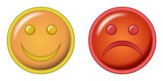 Happy and sad illustration Royalty Free Stock Image
