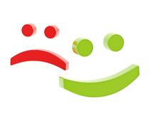 Happy and sad smiles isolated Royalty Free Stock Photo