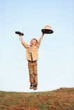 Happy safari child Royalty Free Stock Photos