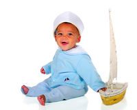 Happy Sailor Baby Royalty Free Stock Photo