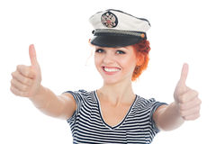 Happy sailor with their thumbs up Royalty Free Stock Images