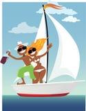 Happy sailors Stock Photo