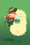 Happy Saint Patrick Day gratters Leprechaun Royalty Free Stock Images