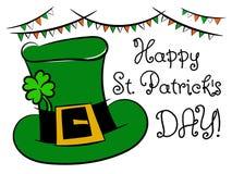 Happy Saint Patrick day shamrock hat isolated Royalty Free Stock Photo