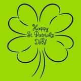 Happy Saint Patrick day shamrock isolated Stock Image