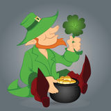 Happy Saint Patrick Leprechaun Royalty Free Stock Photography