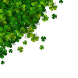 Happy Saint Patrick's day background design, postcard, template, invitation, green shamrock leaves, vector Royalty Free Stock Photography
