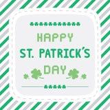 Happy Saint Patrick s Day Card1 Stock Photo