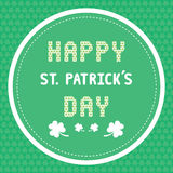 Happy Saint Patrick s Day Card3 Stock Images