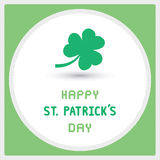 Happy Saint Patrick s Day Card5 Stock Image