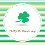 Happy Saint Patrick s Day Card7 Royalty Free Stock Image