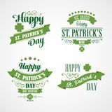 Happy Saint Patrick's Day Card. Typographic With Stock Photography