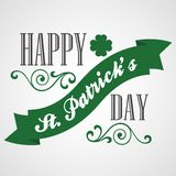 Happy Saint Patrick's Day Card. Typographic With Royalty Free Stock Images