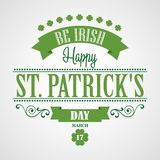 Happy Saint Patrick's Day Card. Typographic With Stock Photos