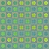 Happy Saint Patrick's day clover pattern. stock illustration