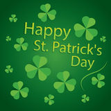 Happy saint patrick's day 17 march shamrock leaves pattern  Royalty Free Stock Photography