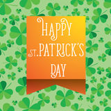 Happy Saint Patrick`s Day scatter shamrock card. Royalty Free Stock Image