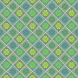 Happy saint Patrick,s day. Seamless pattern with clovers. Happy saint Patrick,s day. National Irish holiday. Seamless pattern with quatrefoil clovers. Modern Stock Illustration