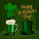 Happy saint patrick's day set. Royalty Free Stock Photo