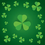 Happy saint patrick's day shamrock leaves pattern background Royalty Free Stock Photos