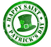 Happy saint patrick's day stamp Royalty Free Stock Image